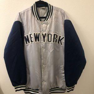 PJ mark New York satin bomber jacket vtg rare